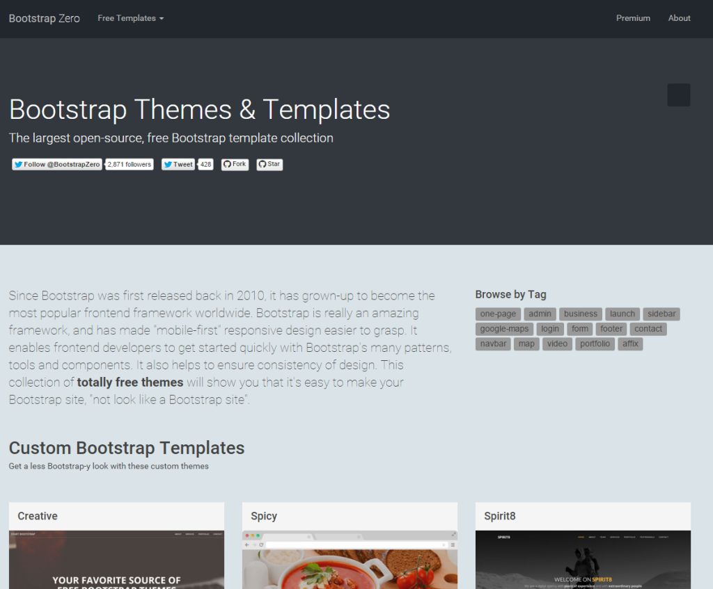 2015-11-01 19_19_22-BootstrapZero - Free Bootstrap Themes and Templates