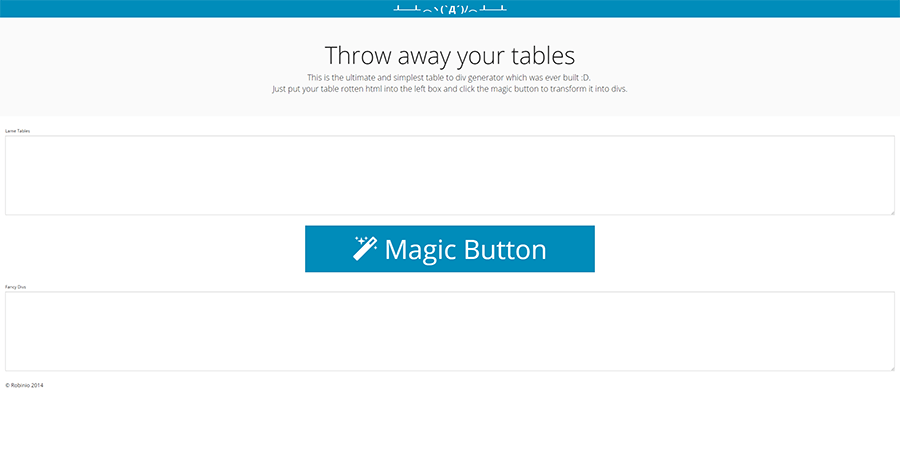 Screenshot of tableflip project